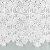 lucky floral guipure milk fiber embroidered lace fabric