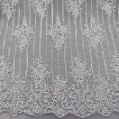 3d sequin french net lace fabric embroidery tulle